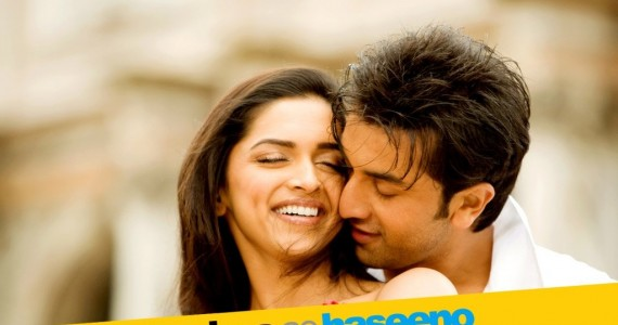 Deepika and Ranbir Kapoor in Movie Poster of Bachna ae Haseeno