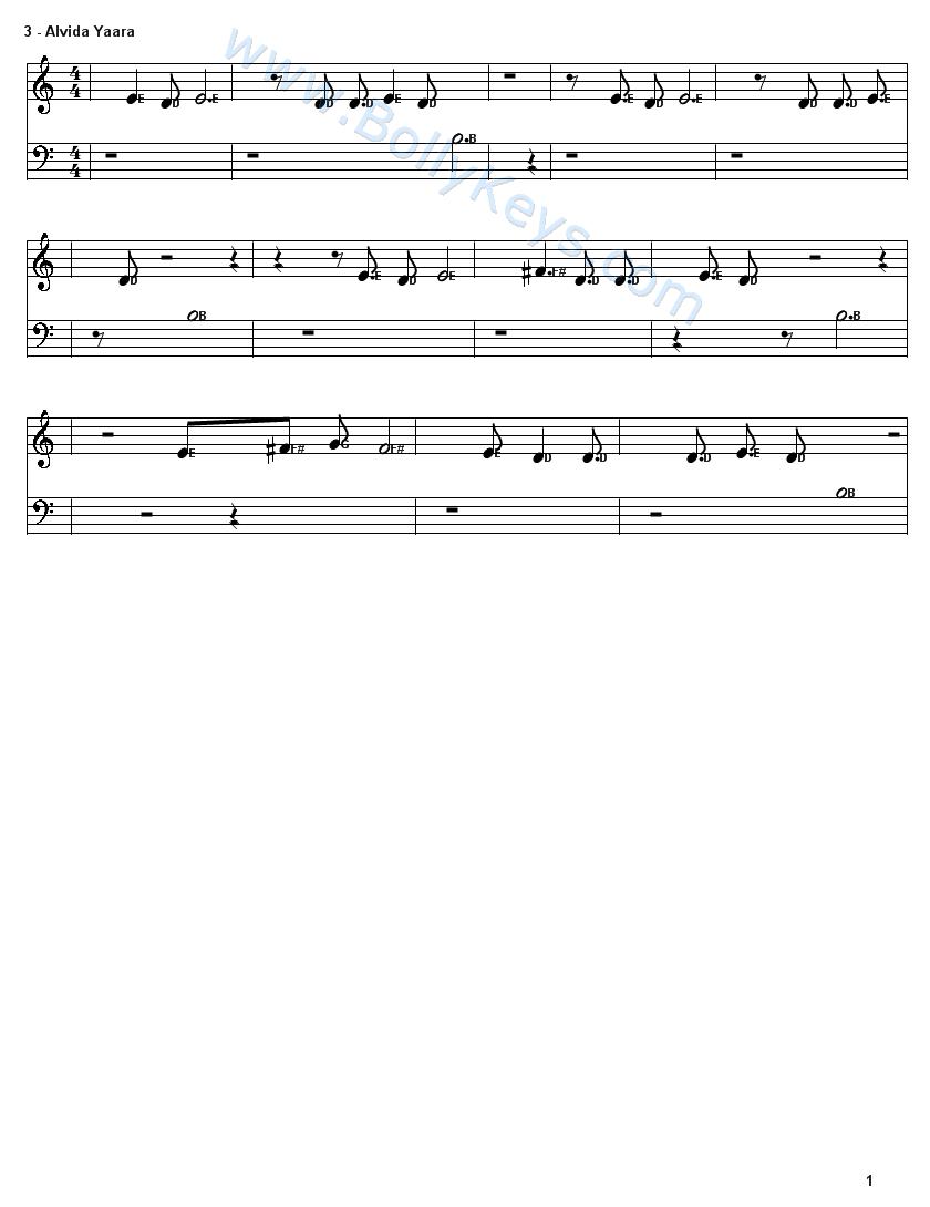 Kabhi Alvida Na Kehna Guitar Chords