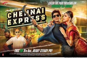Shahrukh Khan, Deepika Padukone in Chennai Express Movie Release Posters