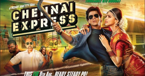 Shahrukh Khan, Deepika Padukone in Chennai Express Movie Release Posters